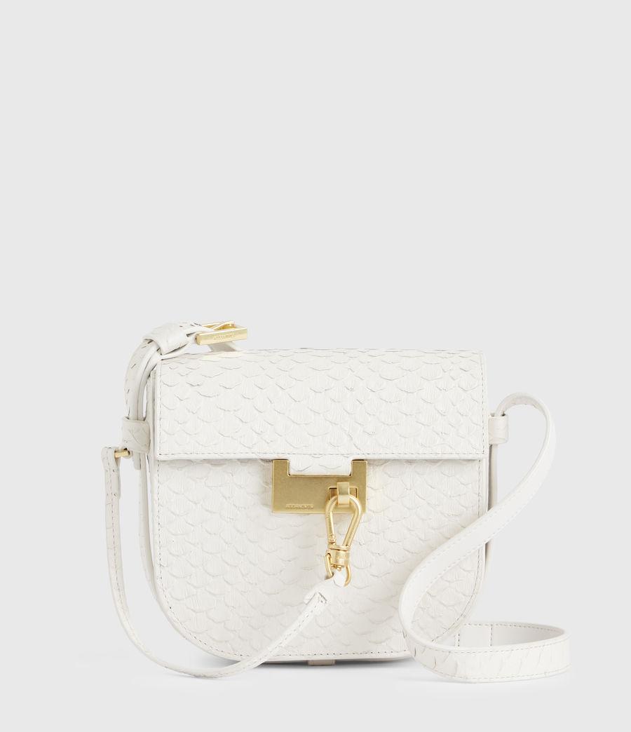 Womens Ida Leather Crossbody Bag (roe_white) - Image 2