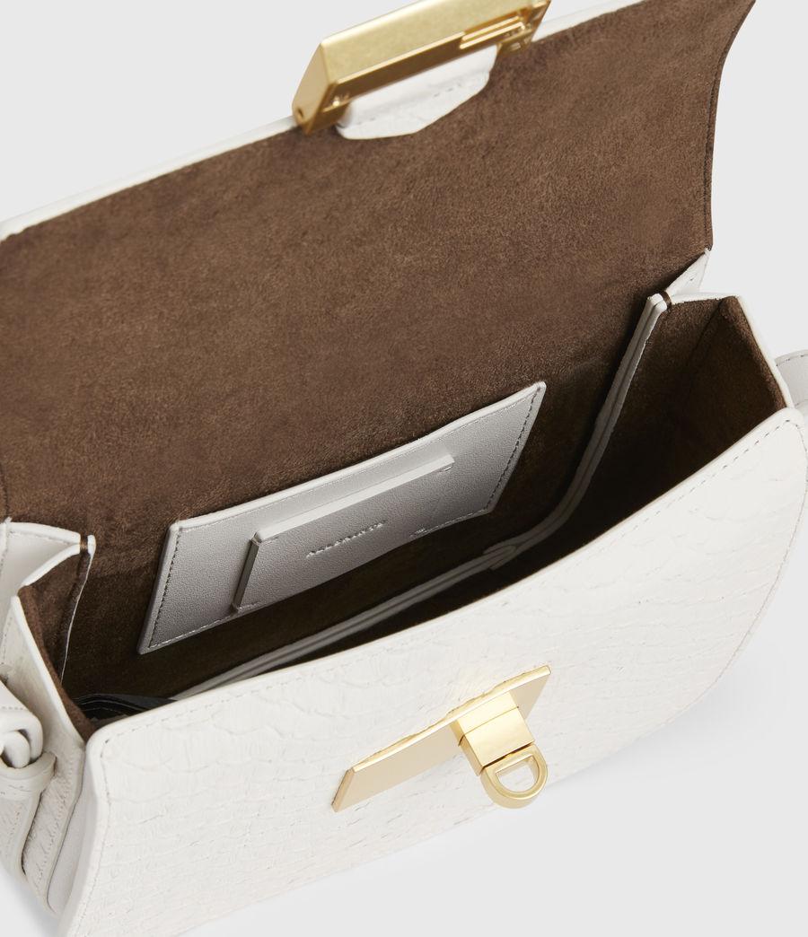 Womens Ida Leather Crossbody Bag (roe_white) - Image 3