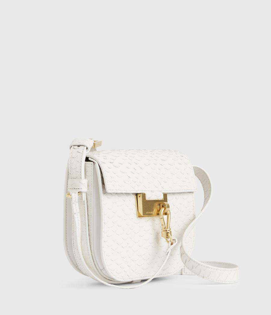 Womens Ida Leather Crossbody Bag (roe_white) - Image 5