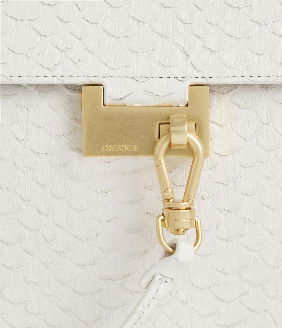Womens Ida Leather Crossbody Bag (roe_white) - Image 6