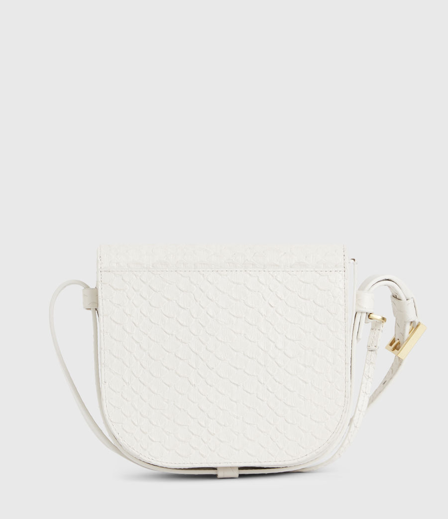 Womens Ida Leather Crossbody Bag (roe_white) - Image 7