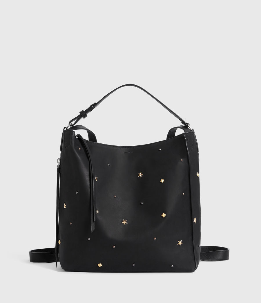Women's Mazzy Small Leather Backpack (black) - Image 1