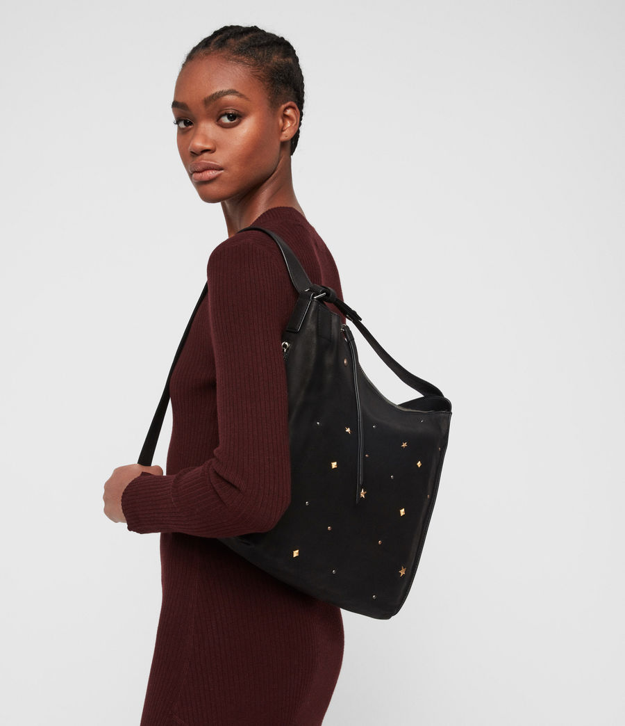 Women's Mazzy Small Leather Backpack (black) - Image 2