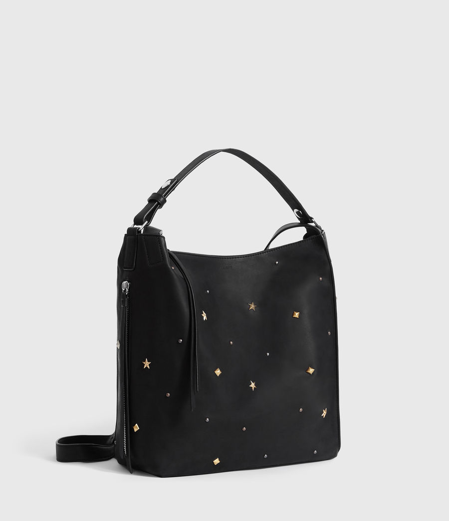 Womens Mazzy Small Leather Backpack (black) - Image 3