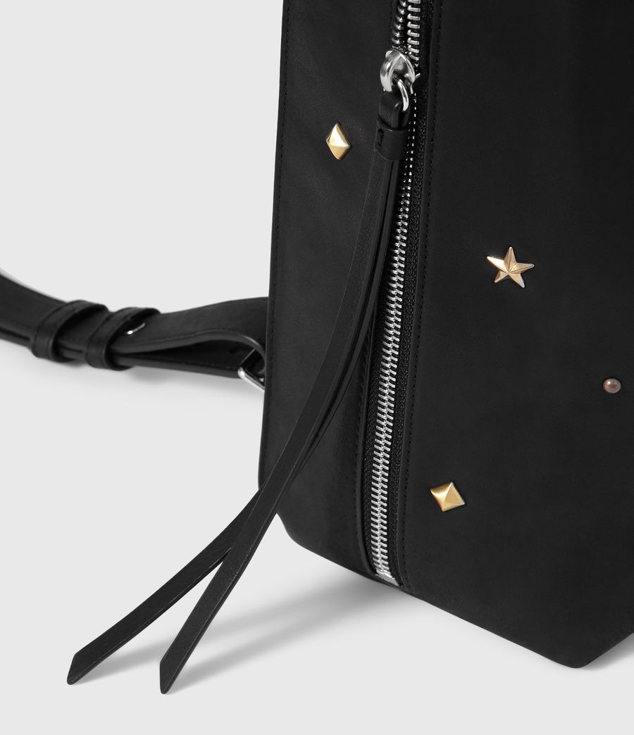 Women's Mazzy Small Leather Backpack (black) - Image 6