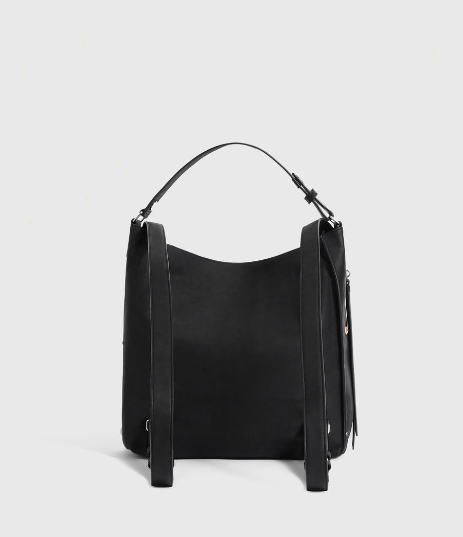 Women's Mazzy Small Leather Backpack (black) - Image 7