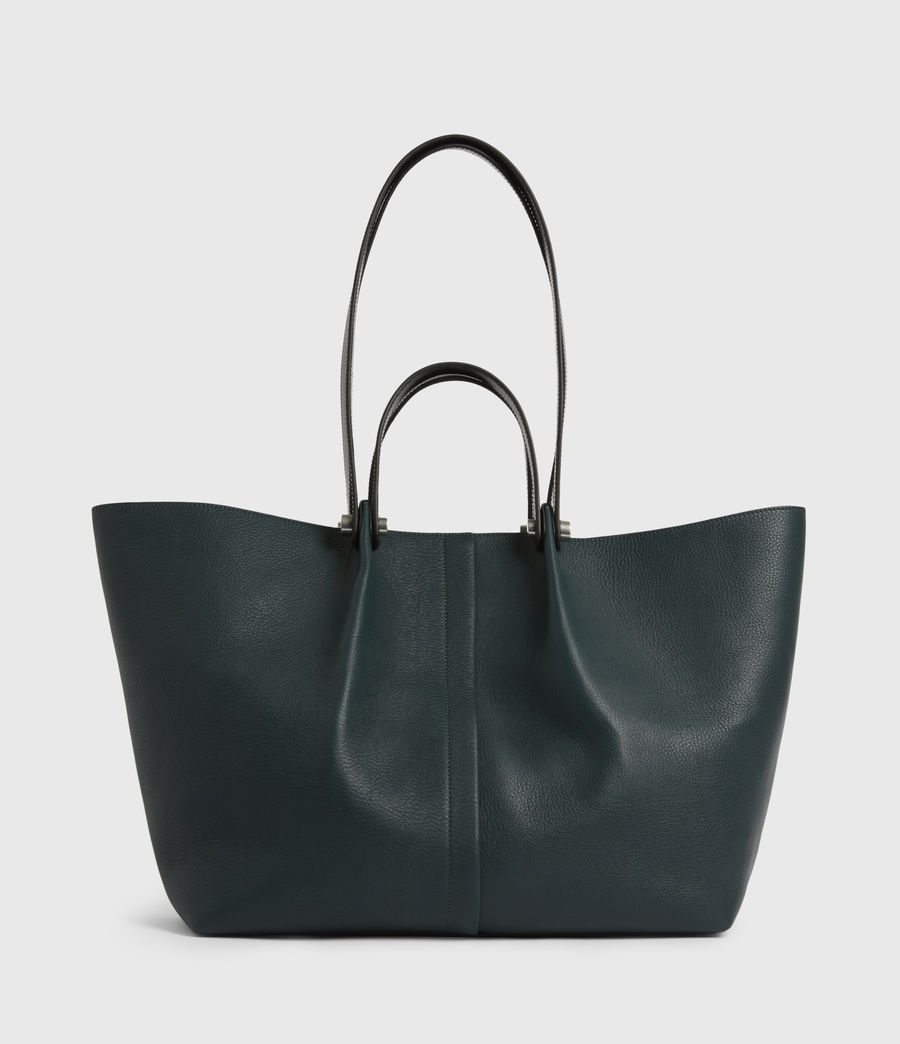 Womens Allington Leather East West Tote Bag (dark_green) - Image 2