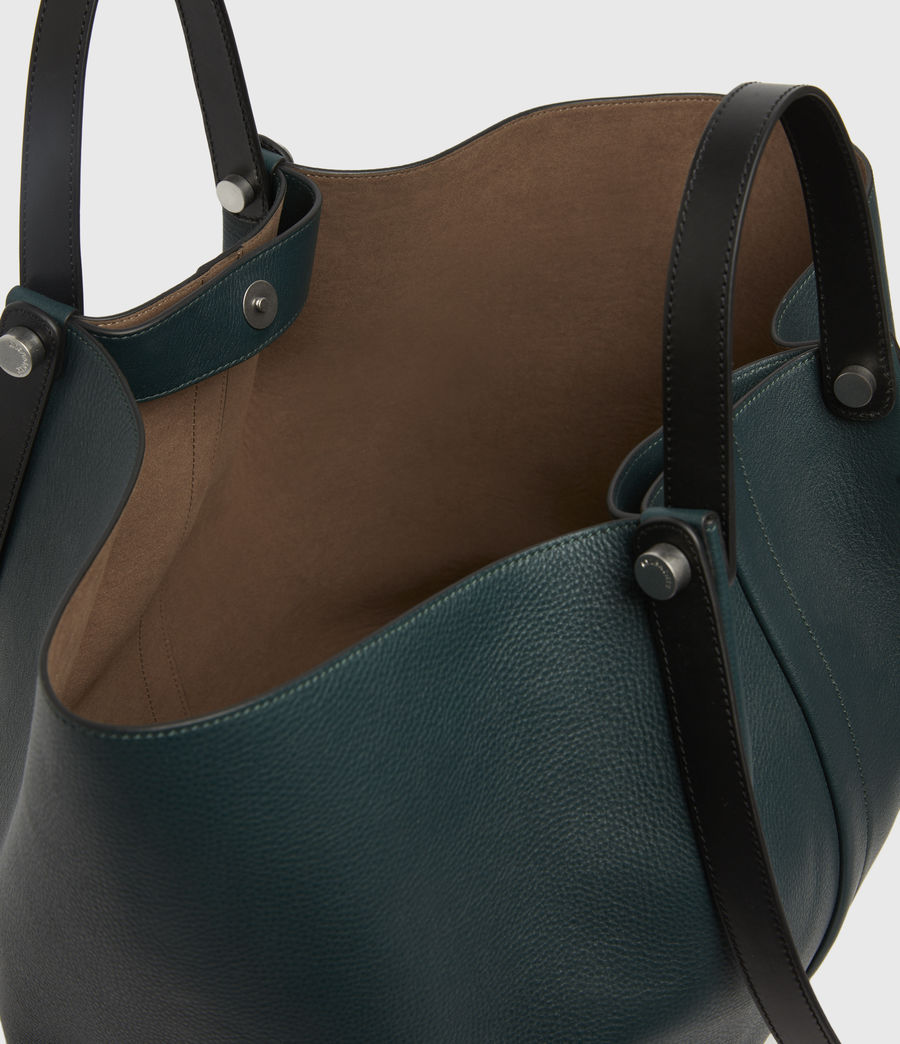 Womens Allington Leather East West Tote Bag (dark_green) - Image 3