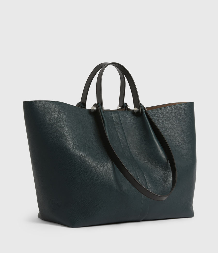 Womens Allington Leather East West Tote Bag (dark_green) - Image 4