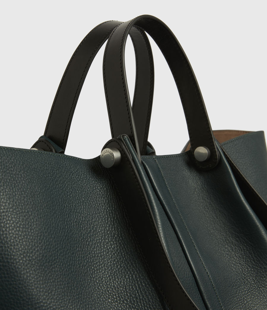 Womens Allington Leather East West Tote Bag (dark_green) - Image 5