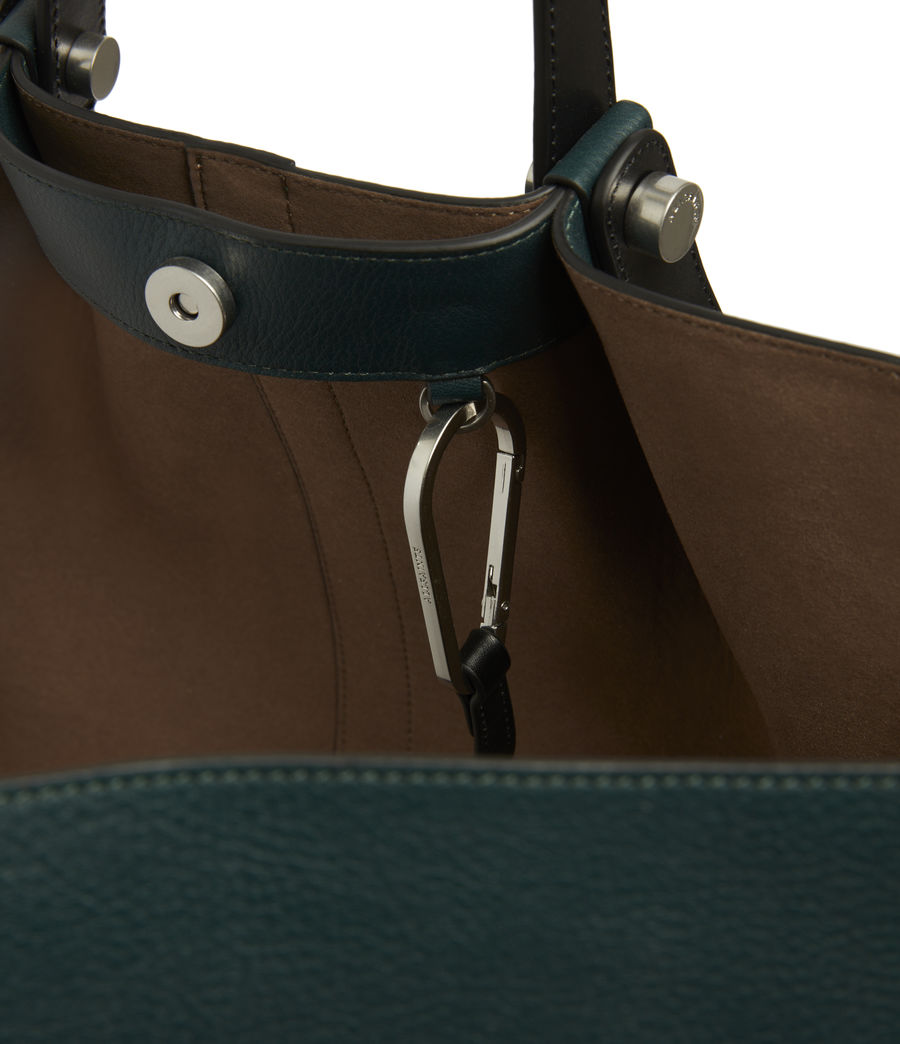 Womens Allington Leather East West Tote Bag (dark_green) - Image 6