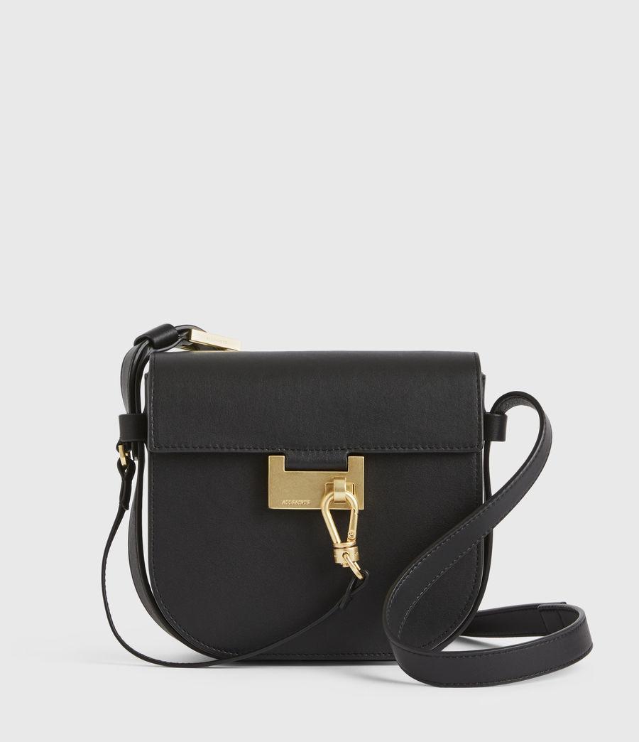 Women's Ida Leather Crossbody Bag (black) - Image 1