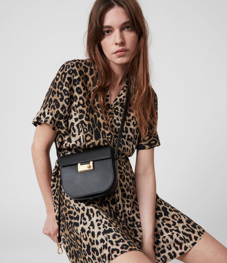 Women's Ida Leather Crossbody Bag (black) - Image 2