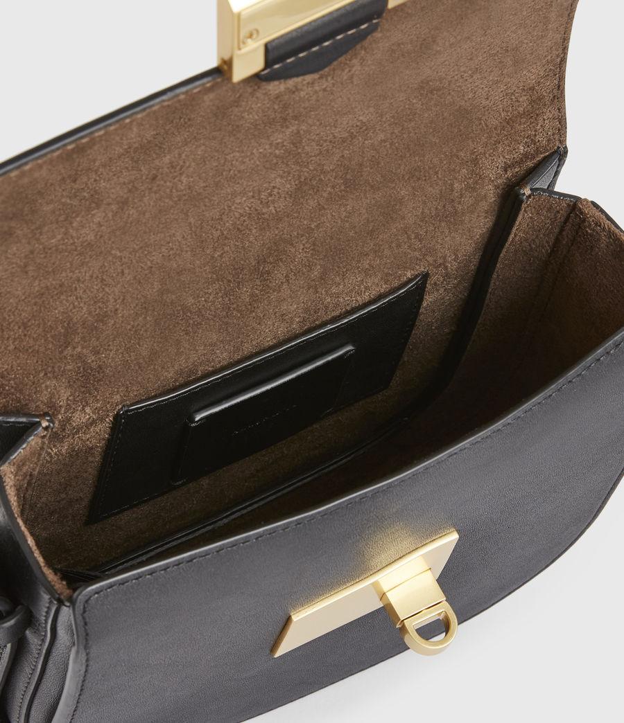 Women's Ida Leather Crossbody Bag (black) - Image 3