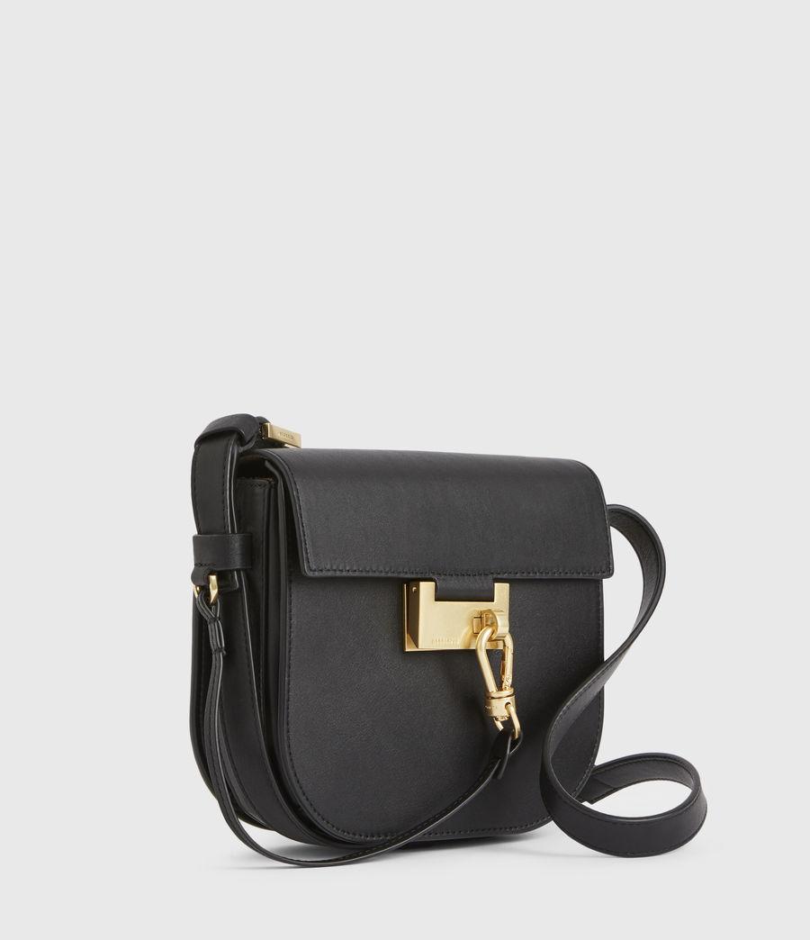 Women's Ida Leather Crossbody Bag (black) - Image 5
