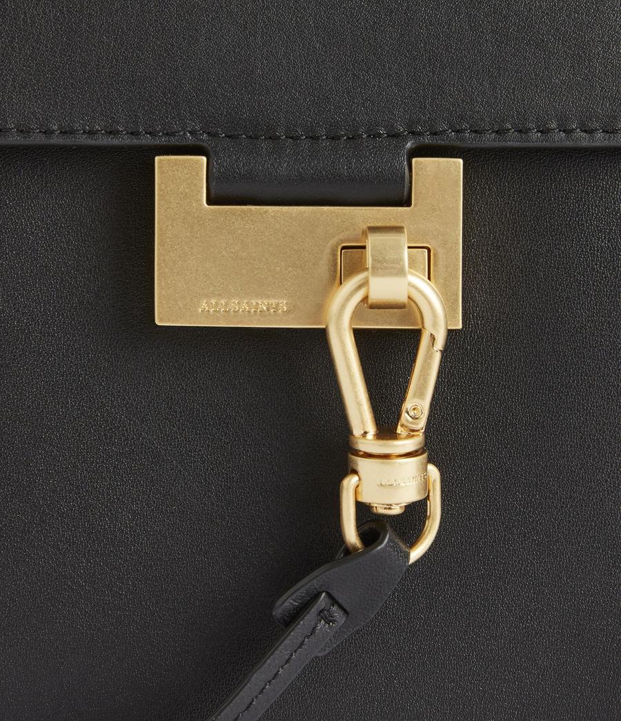 Women's Ida Leather Crossbody Bag (black) - Image 6
