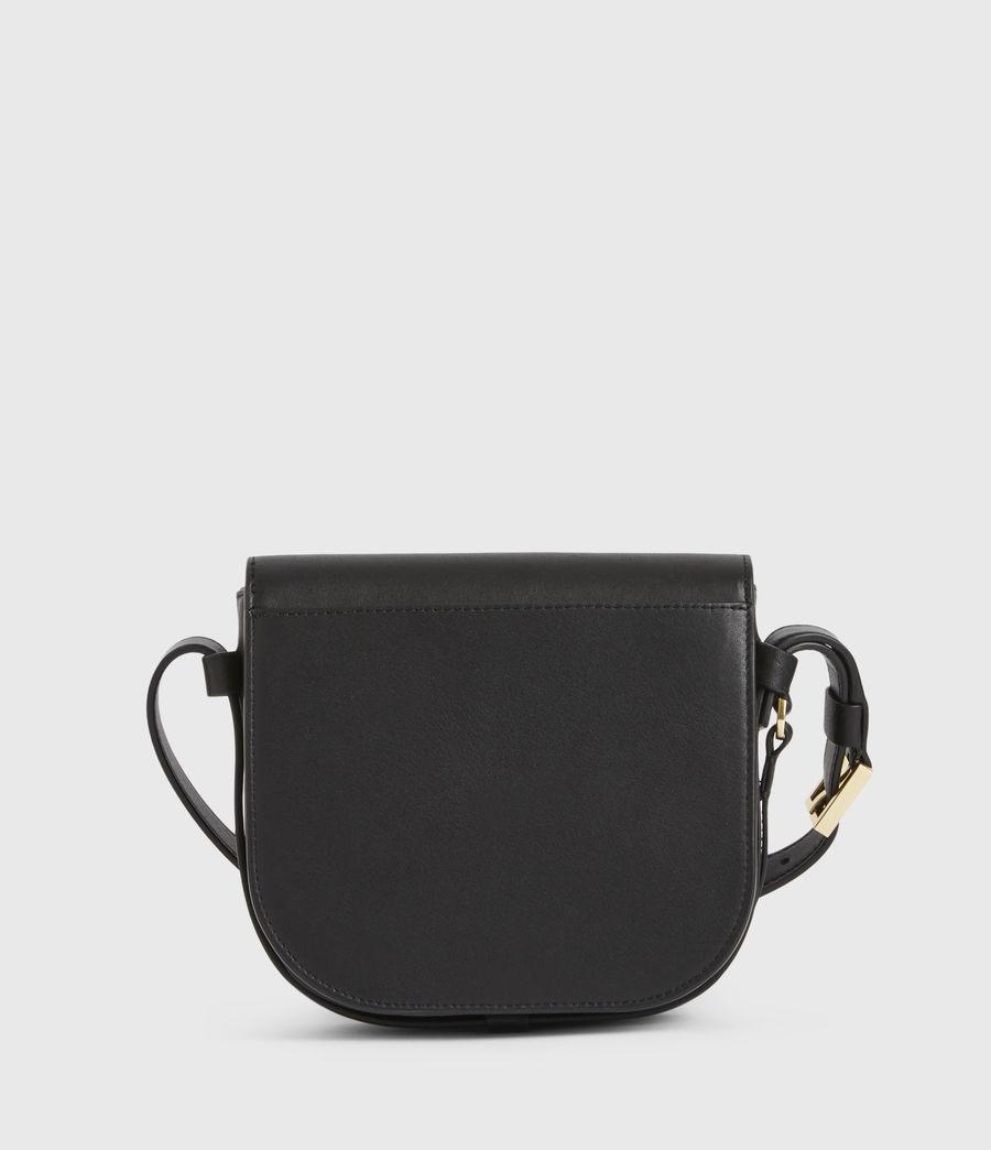 Women's Ida Leather Crossbody Bag (black) - Image 7