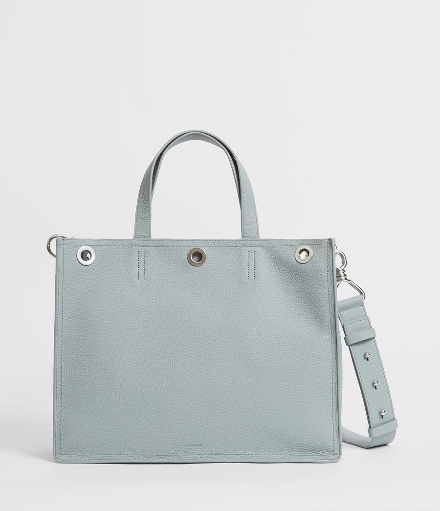 Womens Captain Lea Leather East West Tote Bag Bag (denim_blue) - Image 1