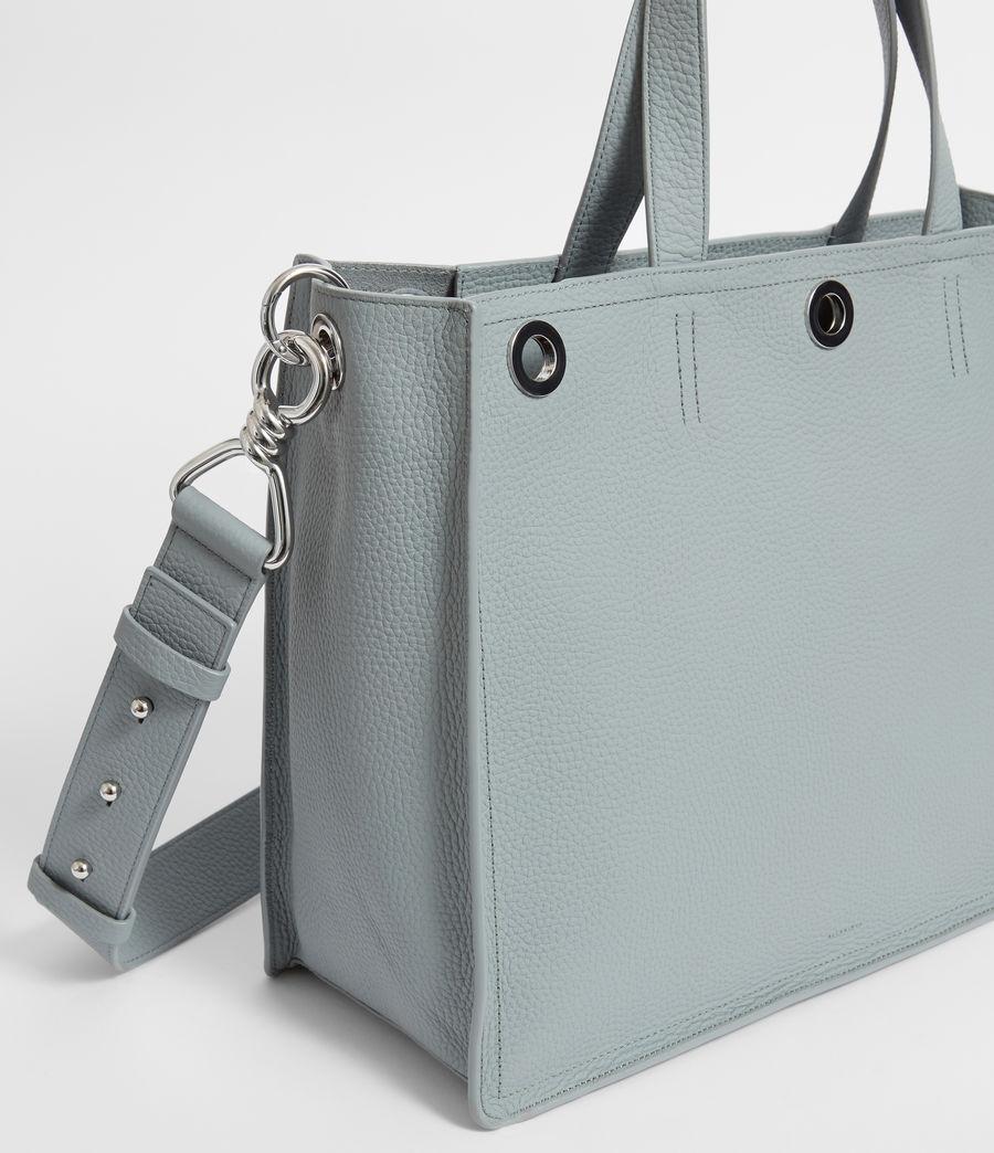 Womens Captain Lea Leather East West Tote Bag Bag (denim_blue) - Image 2