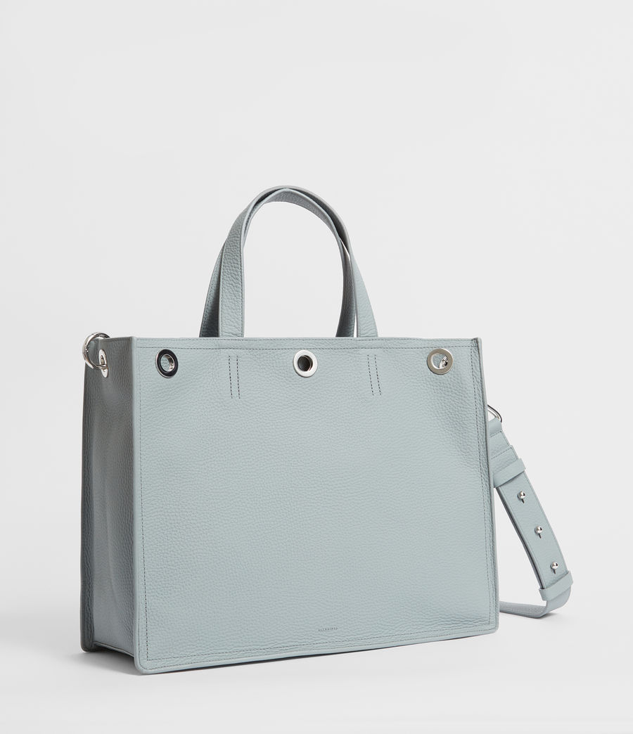 Womens Captain Lea Leather East West Tote Bag Bag (denim_blue) - Image 3