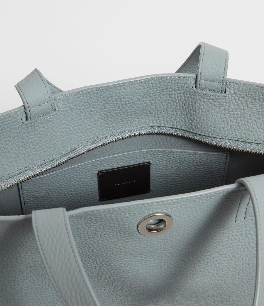 Womens Captain Lea Leather East West Tote Bag Bag (denim_blue) - Image 4