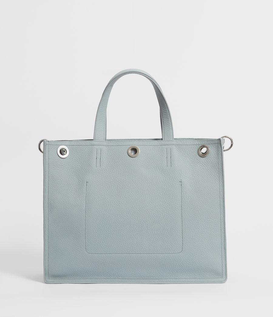 Womens Captain Lea Leather East West Tote Bag Bag (denim_blue) - Image 5
