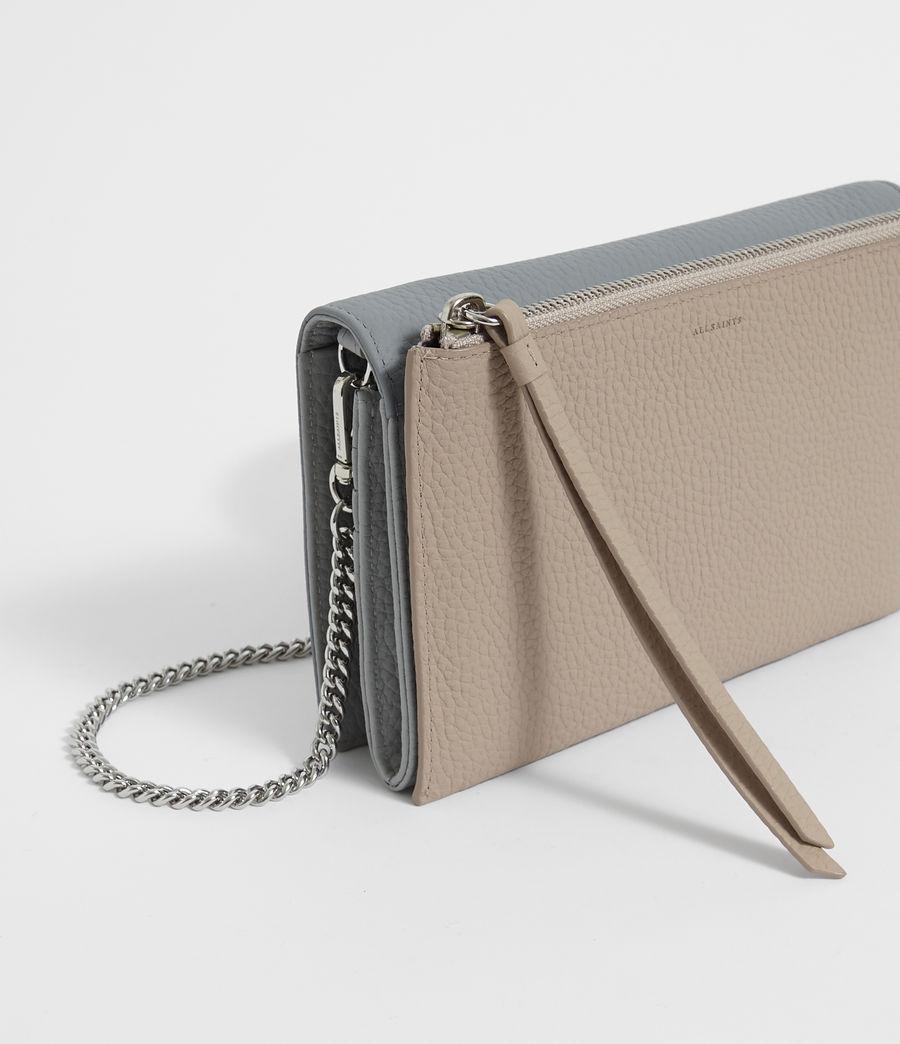 Women's Fetch Leather Chain Wallet Crossbody Bag (multi_sky_blue) - Image 3