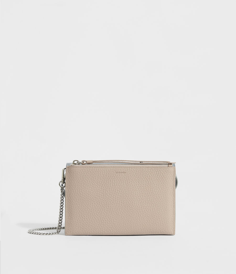 Women's Fetch Leather Chain Wallet Crossbody Bag (multi_sky_blue) - Image 6