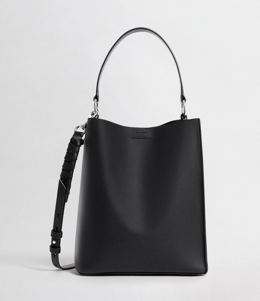 Womens Voltaire Leather Small North South Tote (black) - Image 2