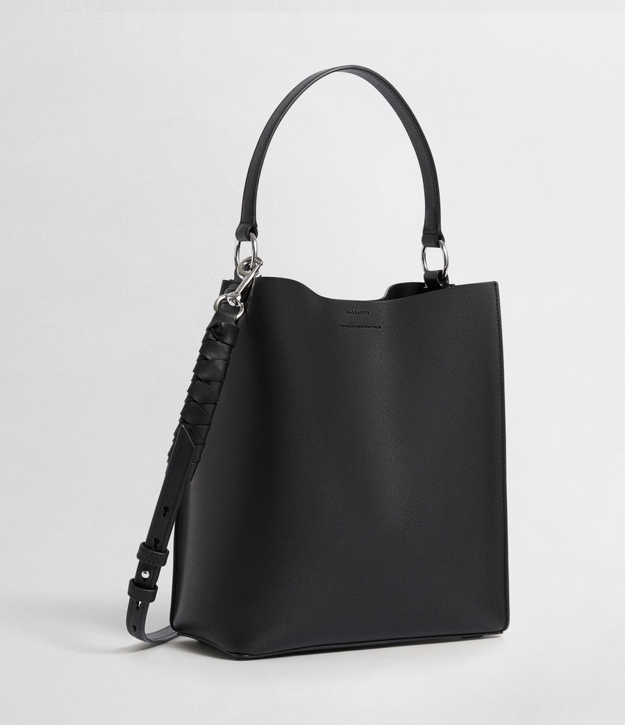Womens Voltaire Leather Small North South Tote (black) - Image 5
