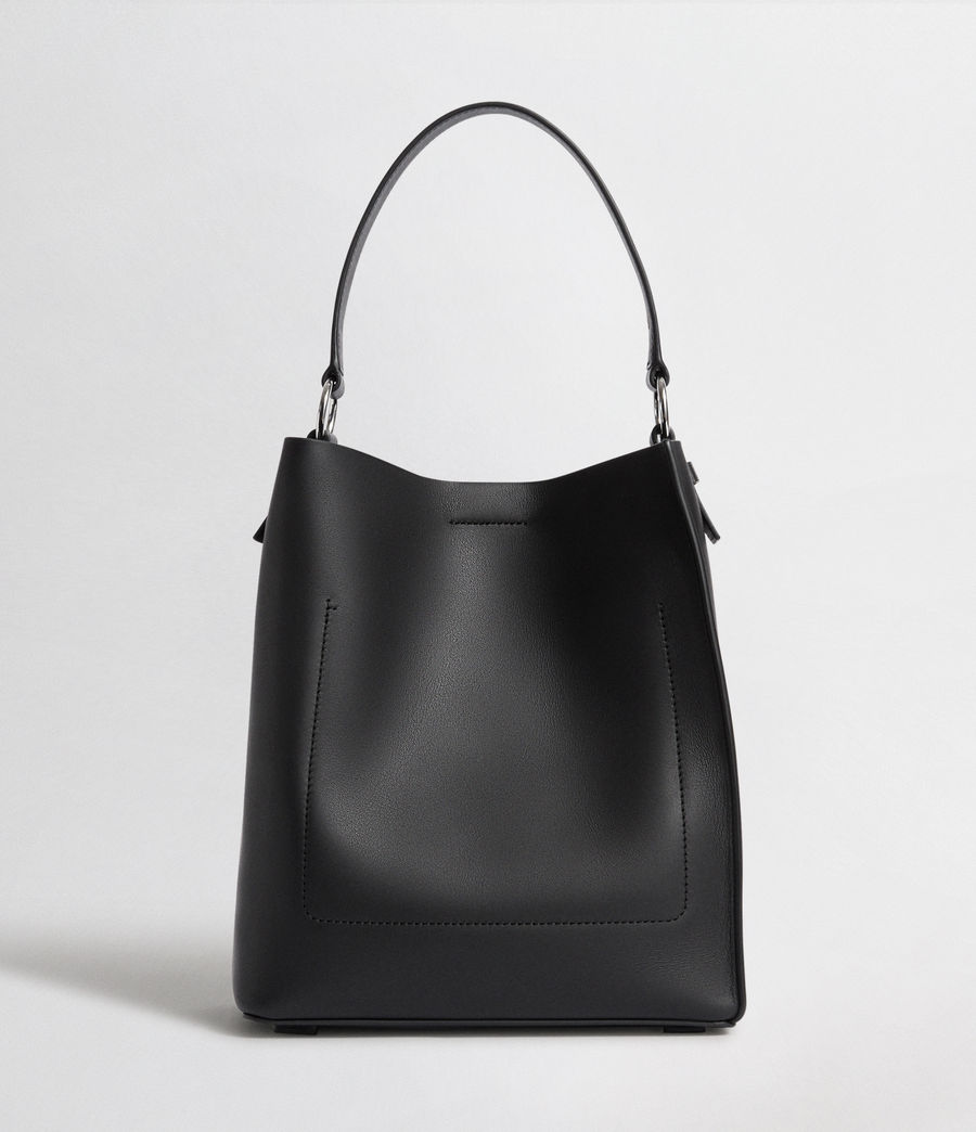 Womens Voltaire Leather Small North South Tote (black) - Image 7