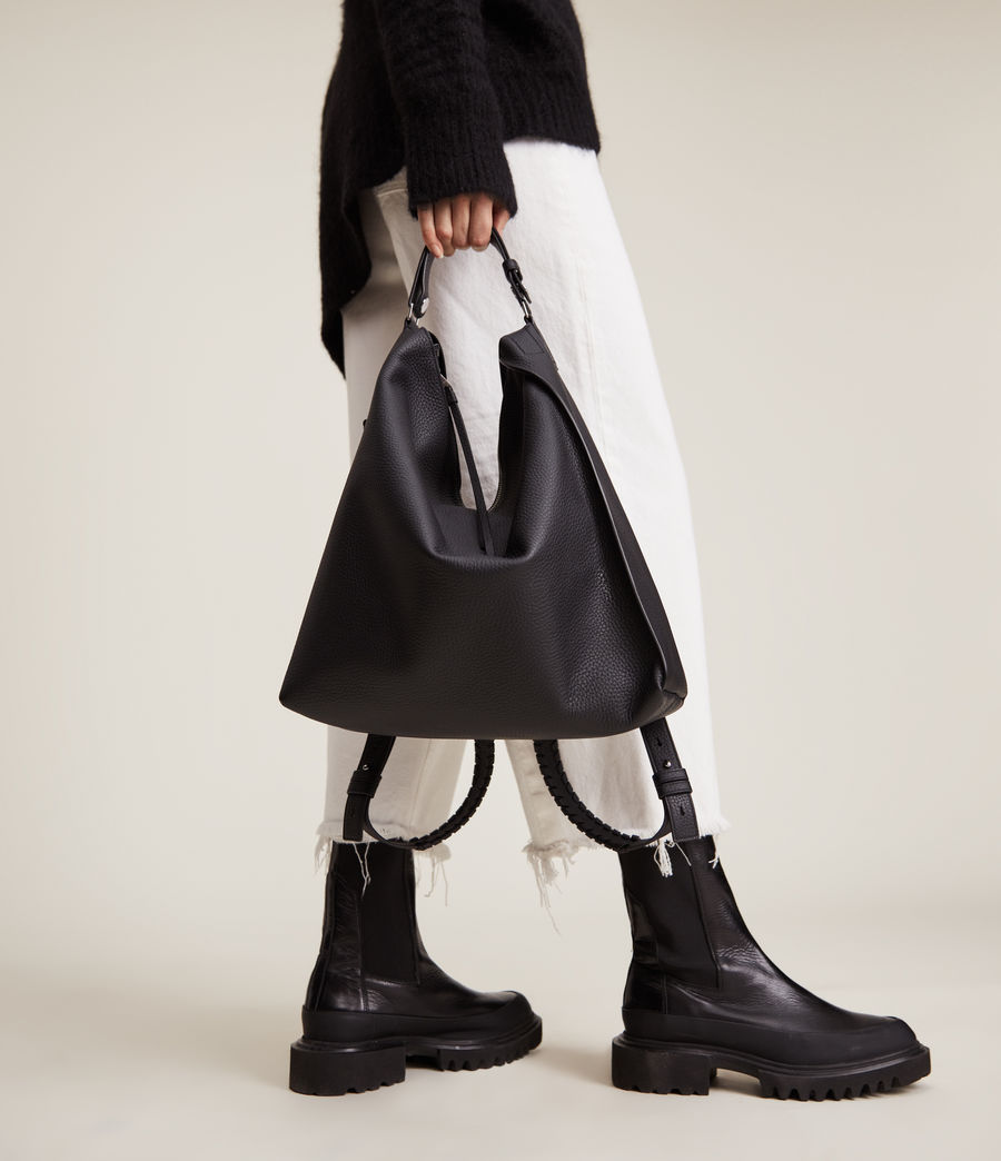 Womens Kita Leather Backpack (black) - Image 1