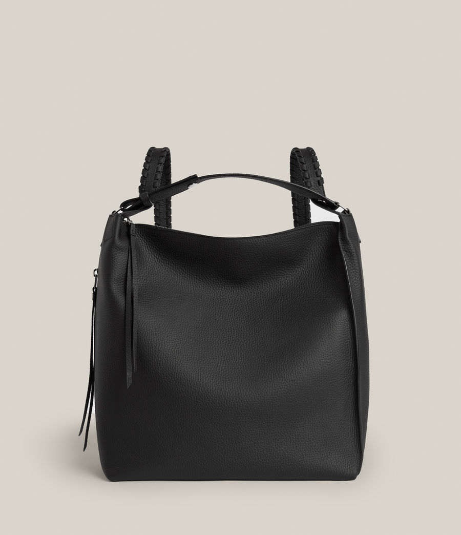 Womens Kita Leather Backpack (black) - Image 2