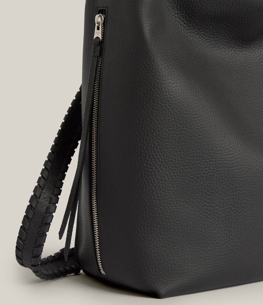 Women's Kita Leather Backpack (black) - Image 7