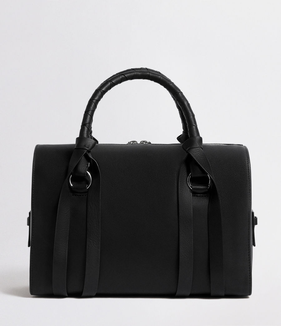 Womens Voltaire Leather Bowling Bag (black) - Image 1