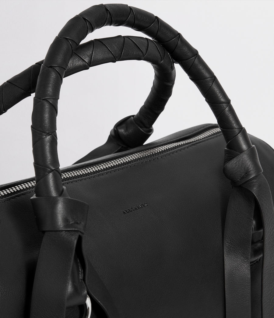 Womens Voltaire Leather Bowling Bag (black) - Image 3