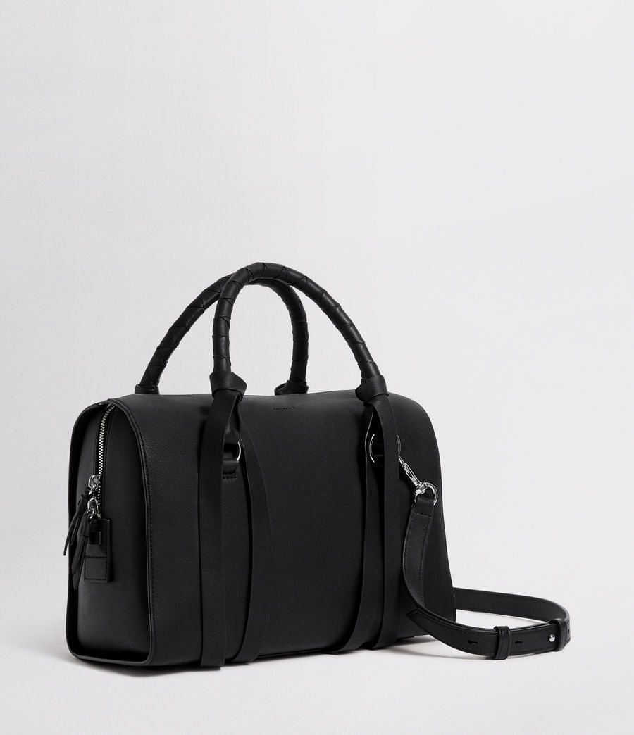 Womens Voltaire Leather Bowling Bag (black) - Image 4