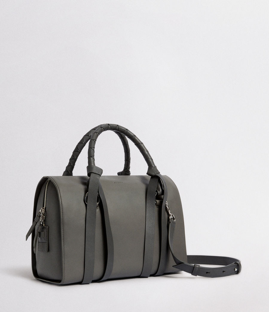 Women's Voltaire Leather Bowling Bag (smoky_blue_dk_blue) - Image 4