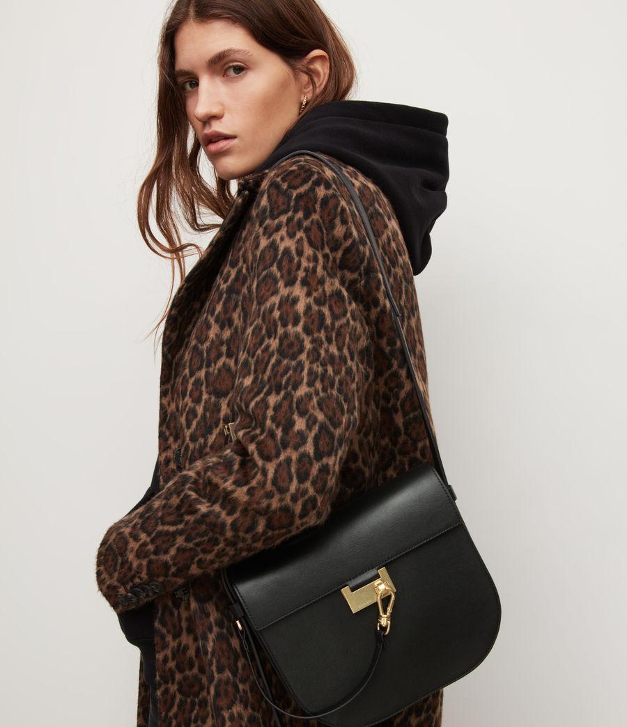 Women's Nicolette Leather Shoulder Bag (black) - Image 2