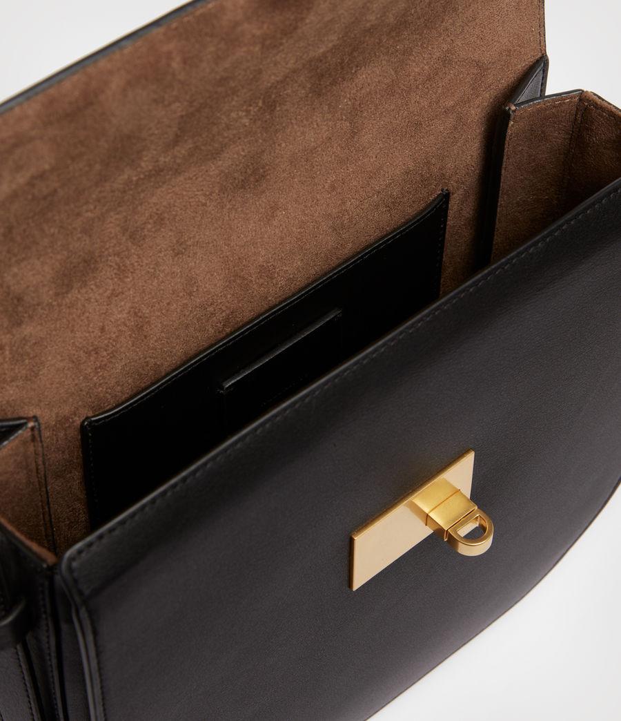 Women's Nicolette Leather Shoulder Bag (black) - Image 3