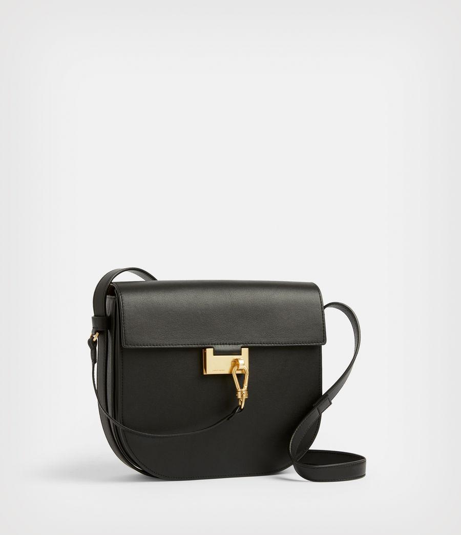 Women's Nicolette Leather Shoulder Bag (black) - Image 4