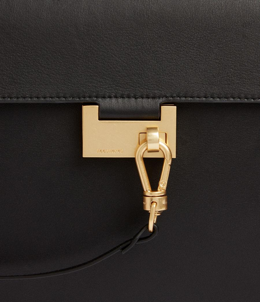 Women's Nicolette Leather Shoulder Bag (black) - Image 5