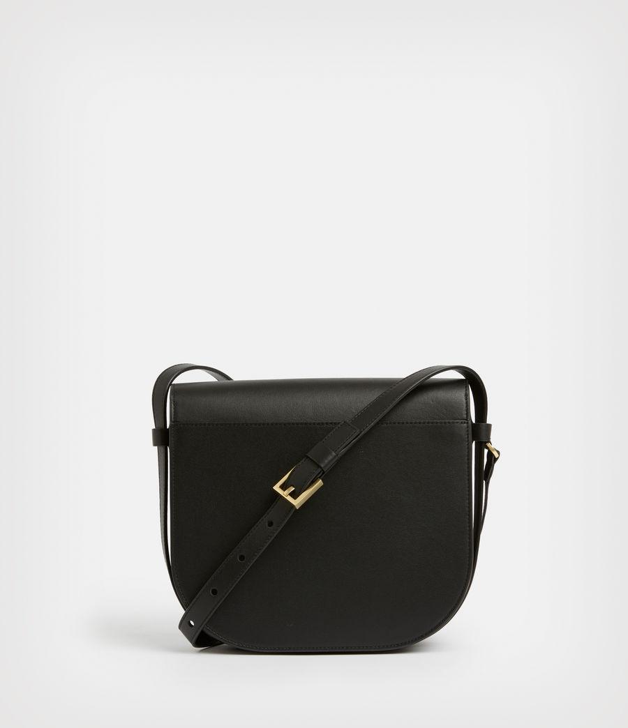 Women's Nicolette Leather Shoulder Bag (black) - Image 7