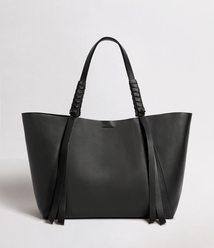 Mujer Voltaire Leather East West Tote Bag (black) - Image 1
