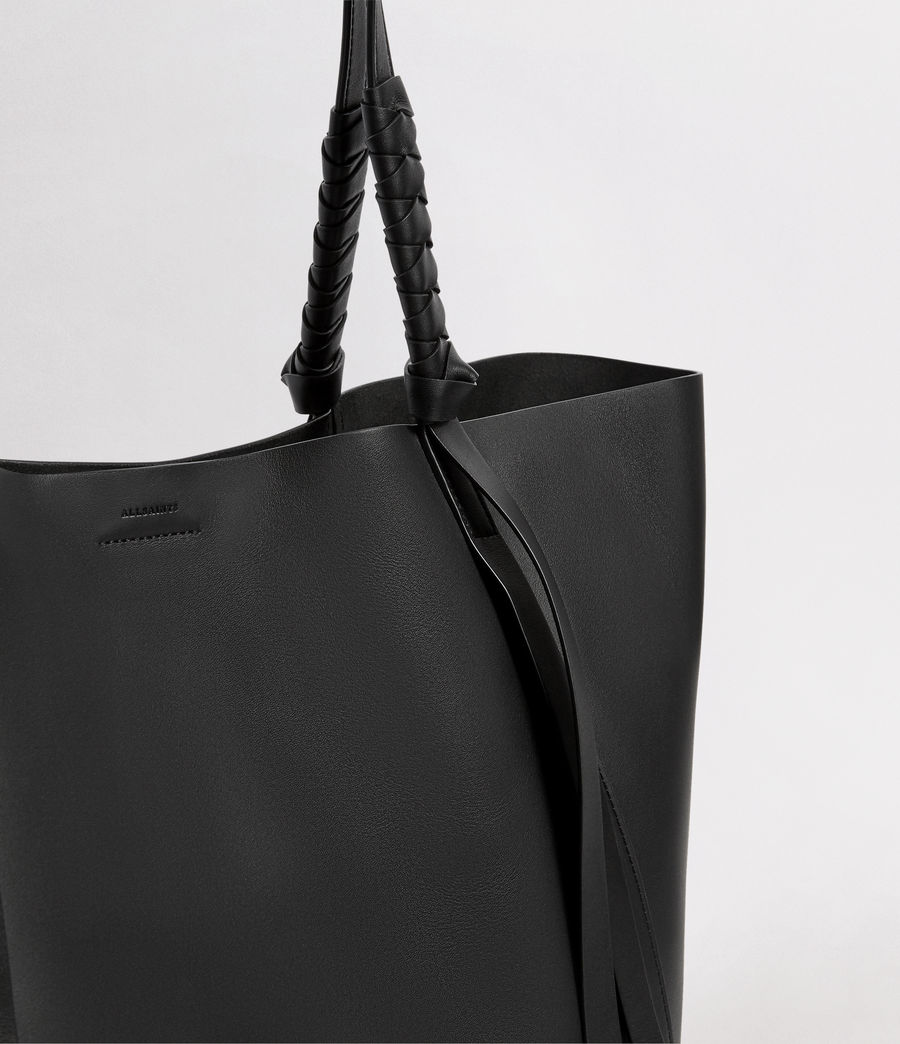 Mujer Voltaire Leather East West Tote Bag (black) - Image 2