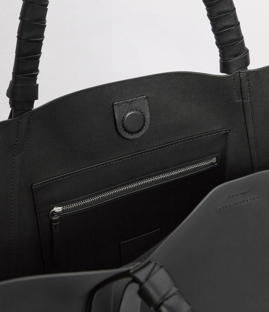 Mujer Voltaire Leather East West Tote Bag (black) - Image 3