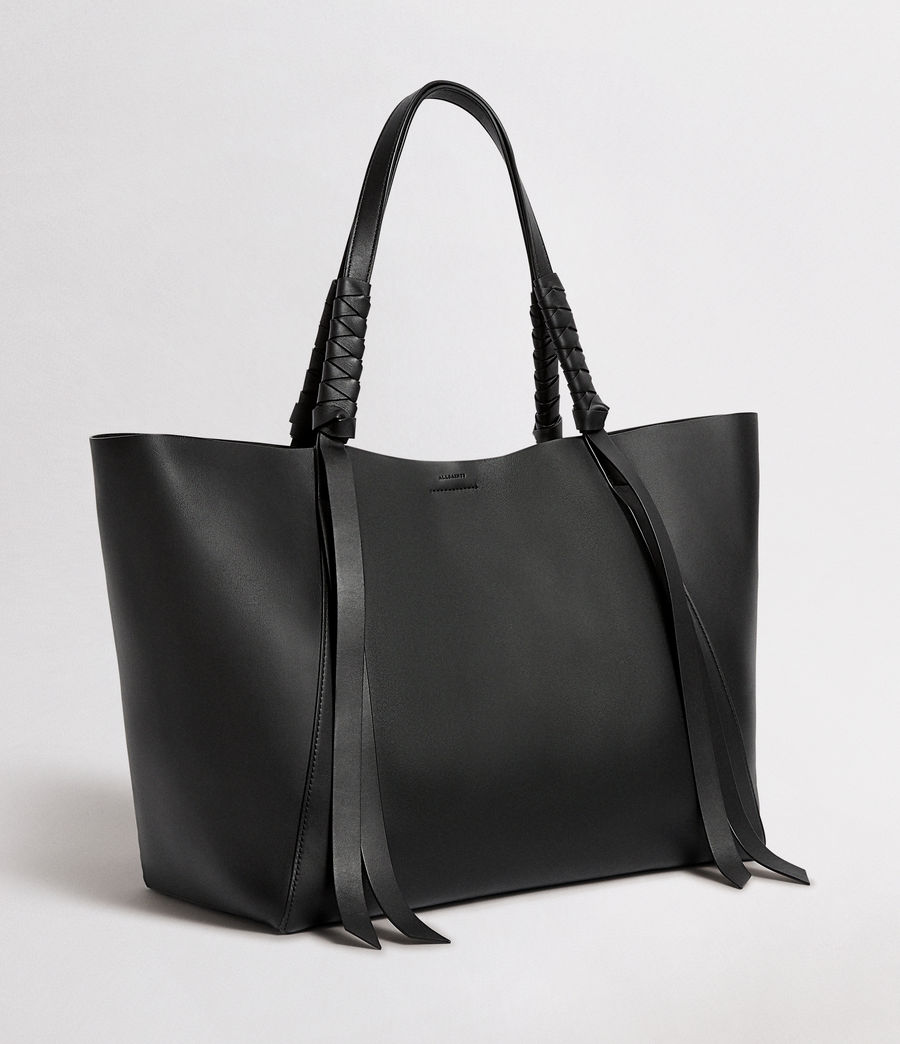 Mujer Voltaire Leather East West Tote Bag (black) - Image 4