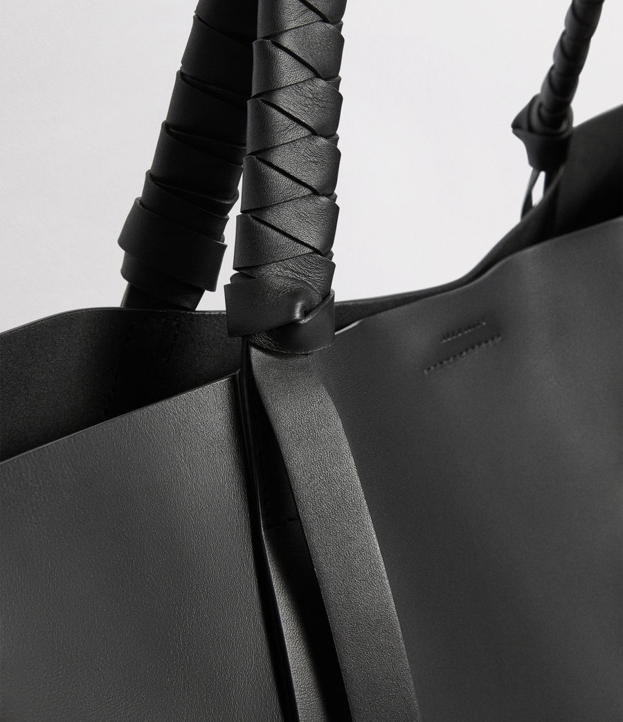 Mujer Voltaire Leather East West Tote Bag (black) - Image 5
