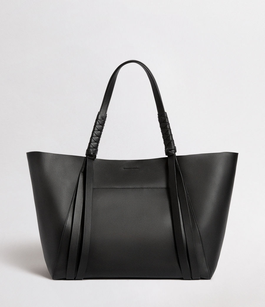 Mujer Voltaire Leather East West Tote Bag (black) - Image 6