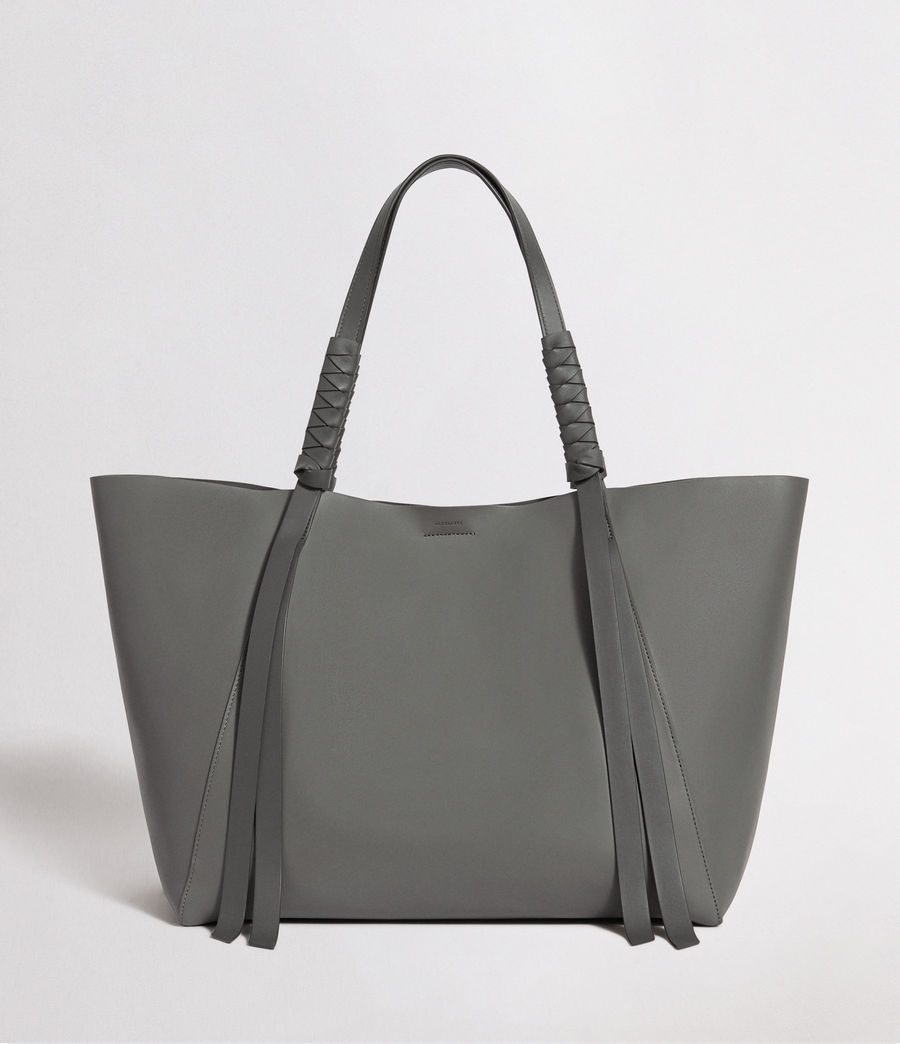 Mujer Voltaire Leather East West Tote Bag (smoky_blue_dk_blue) - Image 1